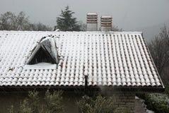 Neve sul tetto Immagini Stock Libere da Diritti