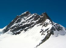 Neve sulla montagna Immagine Stock