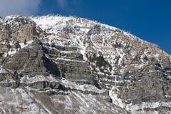 Neve sulla montagna dell'Utah immagini stock libere da diritti