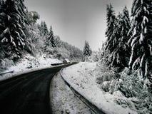 Neve sulla strada Immagine Stock Libera da Diritti