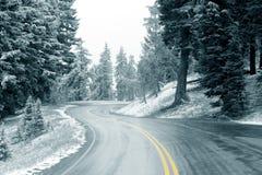 Neve sulla strada principale Immagini Stock