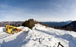 Neve sulle alpi italiane Immagine Stock Libera da Diritti