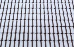 Neve sulle mattonelle di tetto Fotografia Stock Libera da Diritti