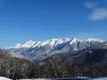 Neve sulle montagne Immagini Stock