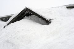 Neve toda sobre fotos de stock