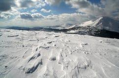 Neve in Ucraina Fotografia Stock Libera da Diritti
