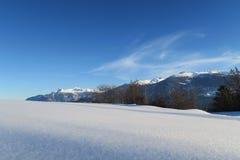 Neve vergine in alpi svizzere Fotografia Stock Libera da Diritti