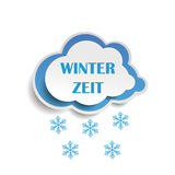 Neve Winterzeit da nuvem Imagens de Stock Royalty Free