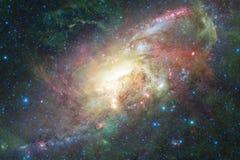 Nevel en melkwegen in ruimte Elementen van dit die beeld door NASA wordt geleverd vector illustratie
