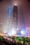 Nevel en stof in Shanghai China Stock Foto