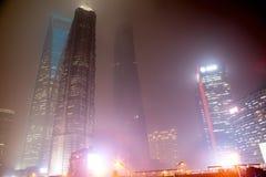 Nevel en stof in Shanghai China Stock Foto's