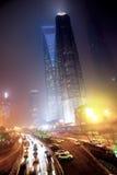 Nevel en stof in Shanghai China Stock Afbeelding