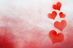Nevel geschilderd hart stock afbeeldingen