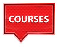 Nevelige de cursussen namen roze bannerknoop toe vector illustratie