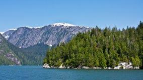 Nevelige Fjorden stock foto's