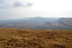 Nevelige heuvels van Schotland Stock Foto's
