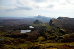 Nevelige heuvels van Schotland Royalty-vrije Stock Foto