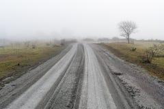 Nevelige Landweg Royalty-vrije Stock Fotografie