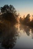 Nevelige rivier Stock Afbeelding