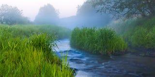 Nevelige rivier Royalty-vrije Stock Afbeelding