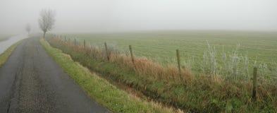 Nevelige weg Stock Afbeelding