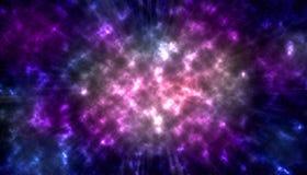 Nevels en sterren in diepe ruimte royalty-vrije illustratie