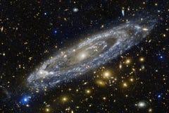 Nevels en sterren in diepe ruimte Kosmische kunst, science fictionbehang royalty-vrije stock foto