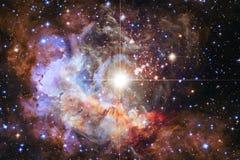 Nevels en vele sterren in kosmische ruimte Elementen van dit die beeld door NASA wordt geleverd royalty-vrije illustratie