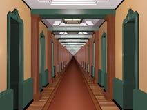 Never Ending Art Deco Corridor Stock Images