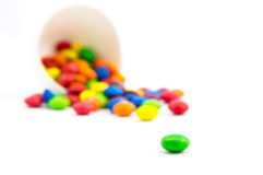 Never-ending candies. Never-ending multicolored candies Stock Photo