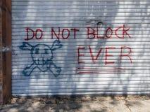 Never ever block the door. Stern warning, do not block the door, ever royalty free stock photos