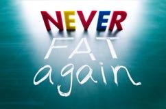 Never Fat Again Concept Stock Photos