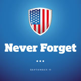 Never Forget - September Eleven Royalty Free Stock Image
