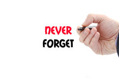 Never forget text concept Stock Photography