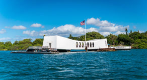 Never forget. The USS Arizona Memorial at Pearl Harbor - Oahu Hawaii Stock Photos