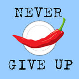 Never give up banner Royalty Free Stock Image