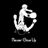 Never give up. Boxer never give up enemy Royalty Free Stock Photography