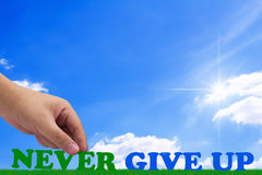 Never Give Up Concept Royalty Free Stock Photo