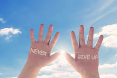 Never Give Up Concept Stock Photography