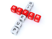 Never give up crosswords Royalty Free Stock Image