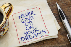 Never give up dreams Royalty Free Stock Photo