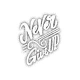 Never give up - hand drawn, lettering, Dotwork for design and logos, or other products Royalty Free Stock Image