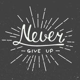 Never Give Up On Vintage Background Royalty Free Stock Photo