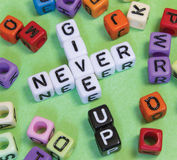 Never Give Up Stock Images