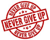 Free Never Give Up Stamp Stock Images - 122424264
