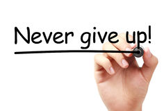 Never give up Royalty Free Stock Photos