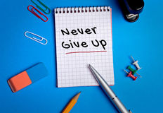 Never Give Up word Stock Photos