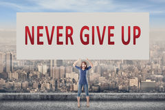 Never give up Royalty Free Stock Photography