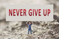 Never give up Stock Photography