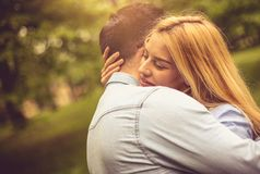 Never let me out of my embrace. royalty free stock photo